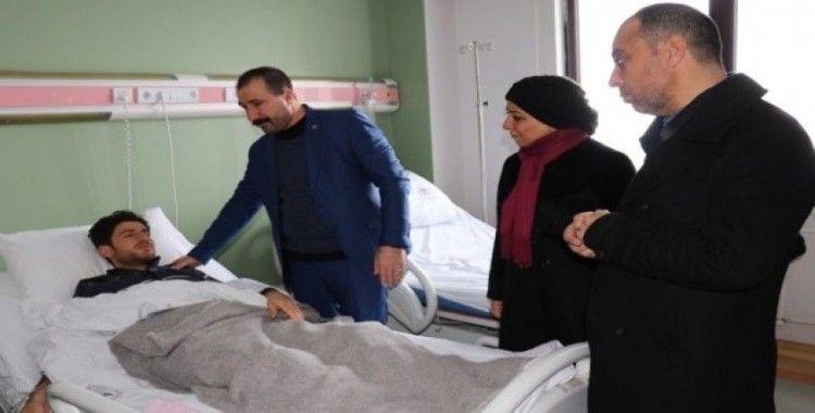 Federasyon Genel Başkanı Kahraman'dan çığ faciasında yaralananlara ziyaret
