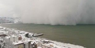 Kar fırtınası böyle geldi