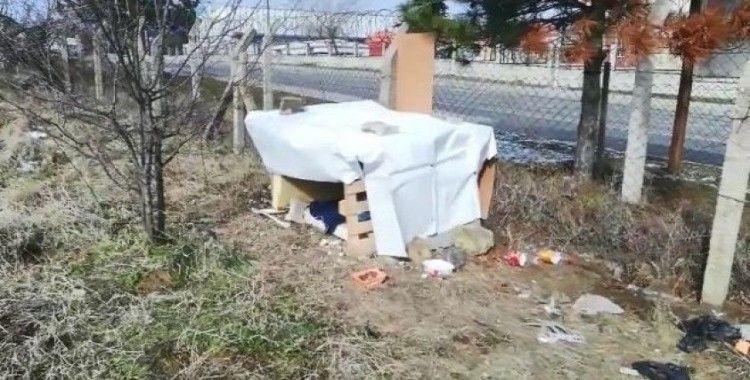 Soğukta kalan anne köpek ve 5 yavrusuna itfaiyeciler sahip çıktı