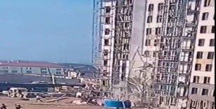 Rusya'da 2 inşaat işçisi iskele çökünce 9'uncu kattan yere çakıldı