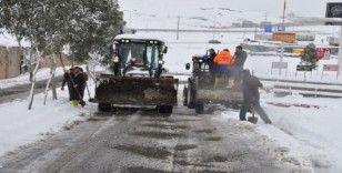 Cizre'de kar temizleme çalışmaları sürüyor