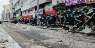Nevşehir Belediyesi karla mücadele çalışmalarını hızlandırdı