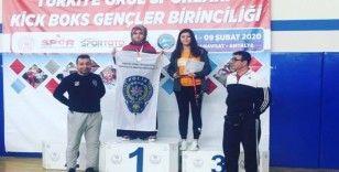 Kırıkkaleli sporcu Kick Boks'da Türkiye şampiyonu oldu
