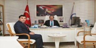 Yeşilay Cemiyeti Bayburt Şube Başkanı Akcan'dan Rektör Coşkun'a ziyaret