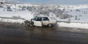 """Karabük'te trafik kazası: """"Biri bebek 3 yaralı"""""""