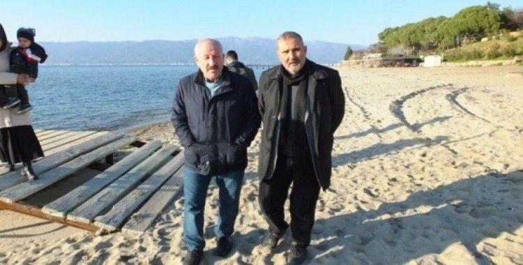 Burhaniye'de Ören sahili yürüyüş mekanı oldu