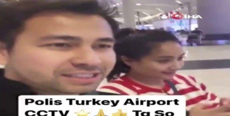 Endonezyalı oyuncudan Türk polisine teşekkür
