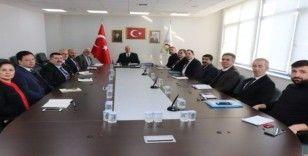 Belediye'de üst yönetim toplantısı gerçekleştirildi