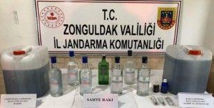 Oto yıkamada sahte alkol üretimine jandarma baskını
