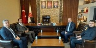 Vali Aktaş, Özel İdare Genel Sekreteri Duru'yu ziyaret etti