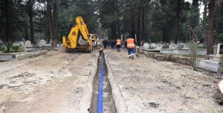 Mezarlıkların içme suyu sorunu çözülüyor