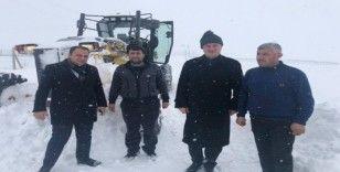 Başkan Akman, yol açma çalışmalarını yerinde inceledi