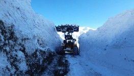 Yüksekova'da 6 metreyi bulan kar tünelleri şaşırttı