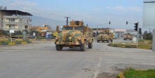Sınıra zırhlı araç ve komando sevkiyatı