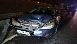 Makas atan sürücü zincirleme kazaya neden oldu