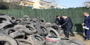 Bursa'da 50 bin atık araç lastiği toplandı