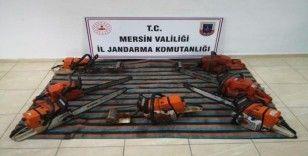 Kablo ve motorlu testere hırsızları yakalandı