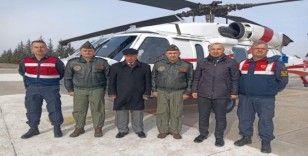 Helikopterle tespit edilen 23 araca 12 bin TL ceza