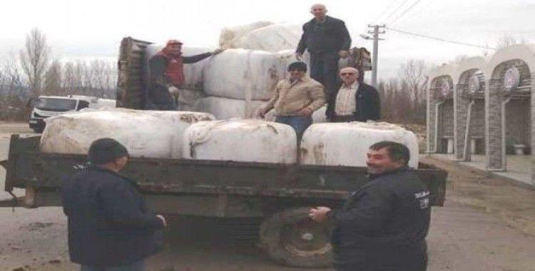 Hisarcık'lı besicilerin mısır silajına talebi arttı