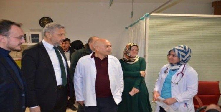 Başkan Biçer'den Başhekim Çağlar'a destek ziyareti