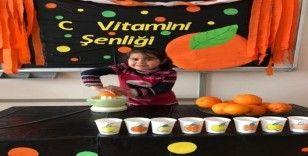 Öğrencilerden C vitamini etkinliği