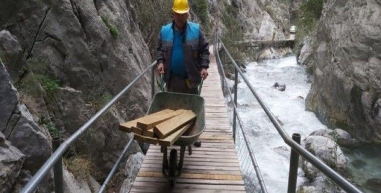 Sapadere Kanyonunda bakım