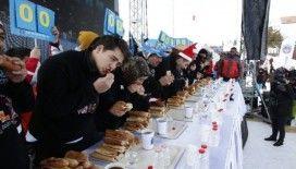 Erciyes'te sucuk yeme yarışması