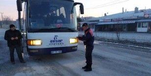 Bolvadin'de işçi servisleri denetlendi