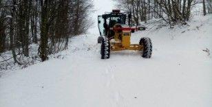 Amasya'da köylerde karla mücadele