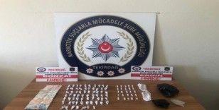 Tekirdağ'da bir kadın uyuşturucudan gözaltına alındı