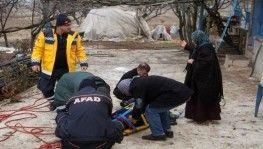 Çatıdan düşen şahıs, AFAD'ın operasyonu ile kurtarıldı
