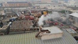 Pendik'te metal kaplama fabrikasında yangın