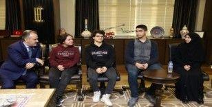 Liseli öğrencilerden Başkan Aktaş'a teşekkür