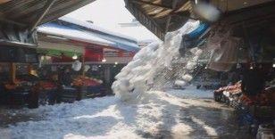 Kar kütlelerinin düşme anı kamerada