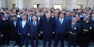 Osmancık'lı muhtarlar Cumhurbaşkanı ile bir araya geldi