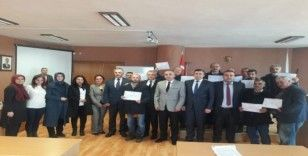 Yükümlü kursiyerlere sertifika töreni