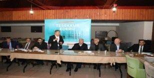 Başkan Şayir'den emekli olan belediye personeline vefa yemeği