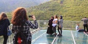 Türkiye'nin en yüksek cam seyir terasını 35 bin 400 kişi ziyaret etti