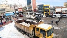 Başkale Belediyesi bin 500 kamyon kar taşıdı