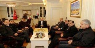 AİÇÜ Rektörü Prof. Dr. Karabulut, AK Parti heyetini misafir etti