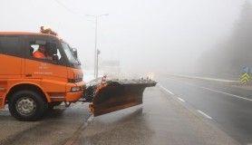 Bolu Dağı'nda sağanak ve sis etkili oluyor