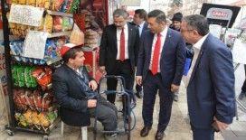 Denizli Ticaret Odası Başkanı Erdoğan esnafı tek tek ziyaret etti