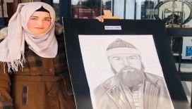 Suriyeli öğrencilerden 'Kahramanlarımız' sergisi