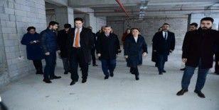 Turgut Özal Üniversitesi Beylerderesi kampüs inşaatı yükseliyor.