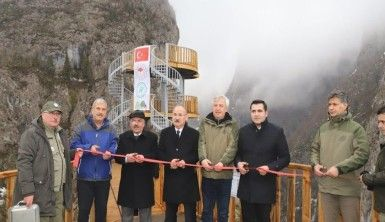 Kastamonu'da Valla Kanyonu'na yaptırılan seyir terası hizmete girdi