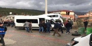 21 kişinin yaralandığı okul servisi kazasının görüntüleri ortaya çıktı