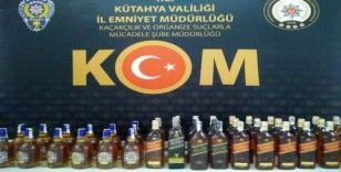 Kütahya'da 42 şişe kaçak içki ele geçirildi