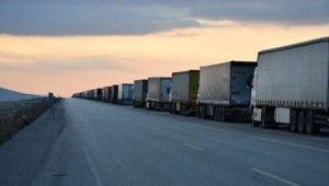 İran sınırında 5 kilometrelik kuyruk