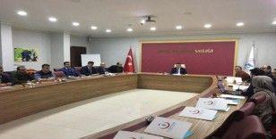 """Erciş'te """"Koronavirüs'e karşı alınacak önlemler"""" konulu toplantı"""