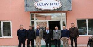 Başkan Mehmet Cabbar ve Başkan Turan'dan Saray Halı'ya tebrik ziyareti
